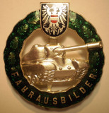 I.760 AUSTRIA INSIGNA MILITARA FAHRAUSBILDER INSTRUCTOR TANCURI PANZER h58mm