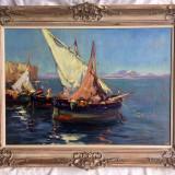 Tablou autentic Constion (Constantin Ionescu), Marine, Ulei, Impresionism
