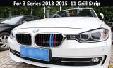 Emblema grila BMW M POWER dungi plastic BMW seria 3 2013-2015 11 grile, Universal