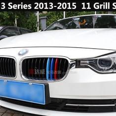 Emblema grila BMW M POWER dungi plastic BMW seria 3 2013-2015 11 grile