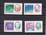 ROMANIA 1971  LP 783  ANIVERSARI  II   OAMENI  DE  STIINTA  SERIE  MNH, Nestampilat