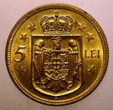 R.037 ROMANIA MIHAI I 5 LEI 1930 H XF/AUNC