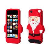 Husa APPLE iPhone 5\5S\SE - 3D (Mos Craciun Rosu)
