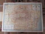 HARTA ROMANIA TURISTICA, CCA 1960