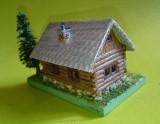Diorama macheta cabana munte casa rustica artizanat Romania