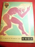 Esop - Viata si Pildele lui - Ed. Tineretului 1963 ,ilustratii Eugen Taru