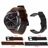 Curea de piele 22mm pt ceas Samsung Galaxy Watch 46mm / Gear S3 Classic Frontier