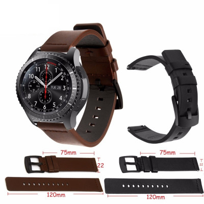 Curea de piele 22mm pt smartwatch Samsung Galaxy Watch Gear S3 Classic Frontier foto
