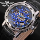 Ceas Winner Win109 Mecanic Skeleton FullBLue