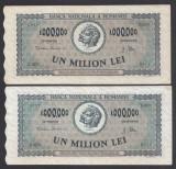 1000000 lei 1947 1 aUNC 2 Serii Consecutive