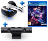 Ochelari VR Sony pentru PlayStation 4 + Camera PlayStation 4 + Joc VR Worlds