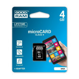 Card MicroSD 4GB Clasa 4 GoodRam