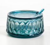 Recipient zahar cu capac Kartell Jellies Family design Patricia Urquiola albastru transparent