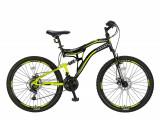 """Bicicleta MTB Full Suspensie Umit Stitch 2D , Culoare Negru/Galben, Roata 26""""PB Cod:26261000003"""
