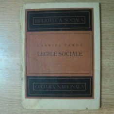 Legile Sociale , Gabriel Tarde , 1897