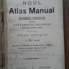 NOUL ATLAS MANUAL,1903, HARTI ROMANIA,MACEDONIA...