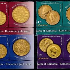 Romania 2013, LP 1989 b, Monede de aur, seria cu vinieta, MNH! LP 25,25 lei, Istorie, Nestampilat