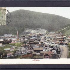 AZUGA   VEDERE GENERALA  CLASICA   TCV  CIRCULATA 1906  UPU, Printata
