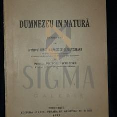 FLAMMARION CAMILLE - DUMNEZEU IN NATURA, 1937, Bucuresti