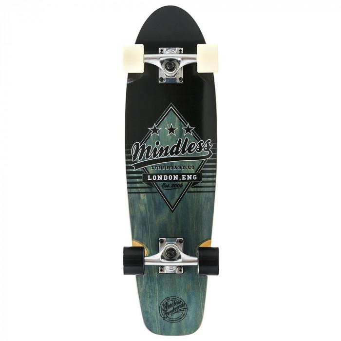 "Cruiser Mindless Longboards Daily Grande II black/White 28""/71cm"