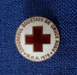 Insigna Congresul soc. de cruce rosie 1978 - Medicina - Crucea rosie - sanitara