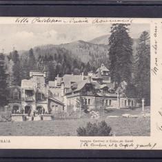 SINAIA  VEDEREA CANTINEI SI CORPUL DE GARDA CLASICA  CIRCULATA 1904, Printata
