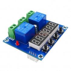 termostat temperatura umiditate higrometru afisaj led digiti dublu 12v xh-m452
