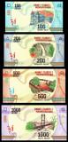 MADAGASCAR █ SET █ 100+200+500+1000 Ariary █ 2017 █ P97-100 █ UNC necirculata