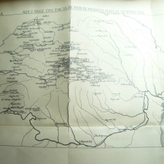2 Harti istorice- Asezarile din Dacia , dim.= 31x20,5 cmsi 29x21 cm