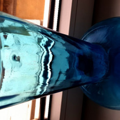 ANII 1920 vaza confectionata manual minutios sticla veche colectie antichitati