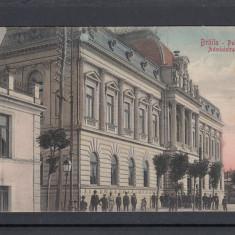 BRAILA   PALATUL  ADMINISTRATIV   CIRCULATA  1908   UPU, Printata