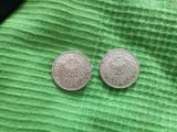 Vechi monede germane de 5 timbre din 1901 și 1891., Europa