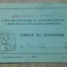 Tichet Libret de economii// 1973