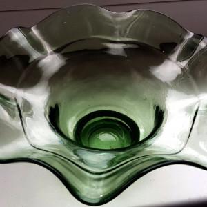 ANII 1900 fructiera  onfectionata manual sticla veche cadou  antichitati