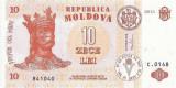 MOLDOVA █ bancnota █ 10 Lei █ 2013 █ P-10g █ UNC █ necirculata