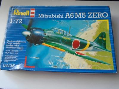 bnk jc Avion - macheta - Mitsubishi A6M5 Zero  - Revell - 1/144 foto
