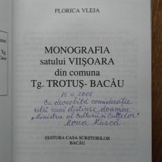 MONOGRAFIA SATULUI VIISOARA, DIN COMUNA TG.TROTUS-BACAU,2004