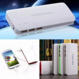 Baterie Externa Power Bank 20000 mah  Baterie Urgenta 3 porturi USB lanterna, 2000 mAh