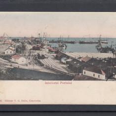 CONSTANTA  INTERIORUL PORTULUI  CIRCULATA 1906  EDITURA T.G. DABO CONSTANTA, Printata