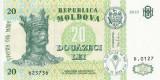 MOLDOVA █ bancnota █ 20 Lei █ 2013 █ P-13j █ UNC █ necirculata