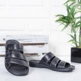 Papuci Piele Lymari negri
