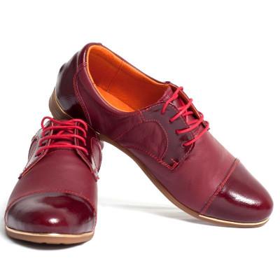 Pantofi casual pentru dama din piele naturala VIC710 foto