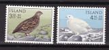 Islanda  1965  fauna  pasari  MI 388-89  MNH w51, Nestampilat