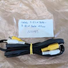 Cablu 3RCA Tata - 2RCA Tata 1,4m (55398)