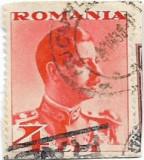 Carol II uzuale, 1934, 4 lei, obliterat (2), Regi, Stampilat