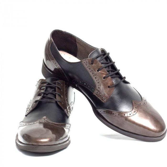 Pantofi eleganti din piele naturala VIC790