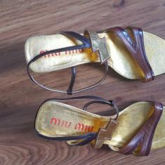 Sandale fabuloase MIU MIU 38, Din imagine