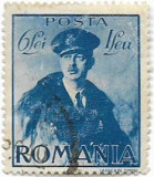 Carol II cu pelerina, 1940, 6 + 1 lei, obliterat