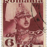 Carol II uzuale, fara Posta, 1934, 6 lei, obliterat, Regi, Stampilat