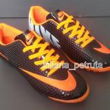Adidasi Nike Mercurial - negru cu portocaliu, 37